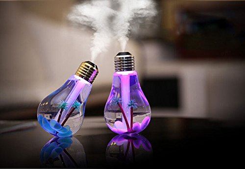Mini Portable Desktop Bulb Air Humidifier  Ultrasonic Humidifier With 7 Color Changing Led Night Lights  400Ml Usb Portable Mist Air Humidifier For Home  Office  Bedroom  Baby Room Gift Ideal