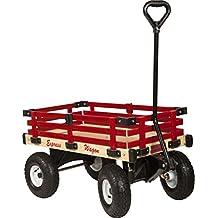 Millside Industries Wooden Express Wagon, 16-Inch X 34-Inch
