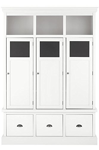 "Home Decorators Collection Shelton Storage Locker, 78"" Hx55.5 Wx16.5 D, Polar White"