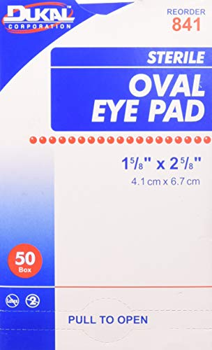 Sterile Eye Pads, 50 Count Curity Eye Pads Box