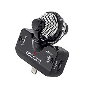 ZOOM iQ5 W iPhone 5 Stereo Condenser Mid-Sid Microphone Gain Control Mic black (import JPN)