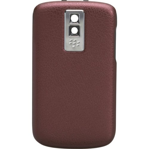 (BlackBerry Leather Battery Door Cover for BlackBerry Bold 9000 - Red - Bulk)