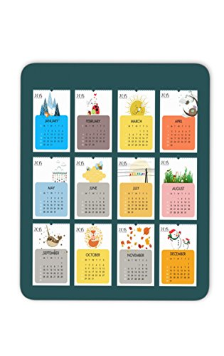 Lovely cartoon 2018 calendar mosue pad--Non-Slip Rubber MousePad---Applies to games,home, school,office mouse pad
