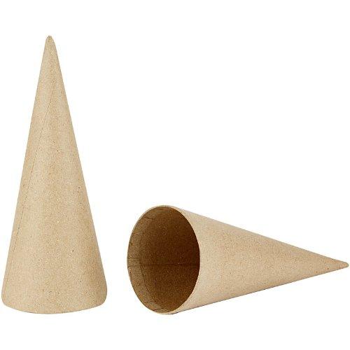 Creativ Company, Coni, in cartapesta, altezza 20 cm, diametro 8 cm, 5 pezzi 265061