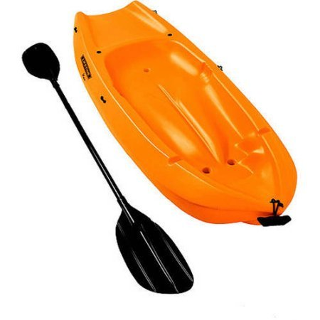 Lifetime, 6', 1-man Wave, Made From Durable HDPE, High Density Polyethylene Construction, Ergonomic Cockpit Design, Uv Protected, Youth Kayak, with Bonus Paddle (Orange) by Lifetime