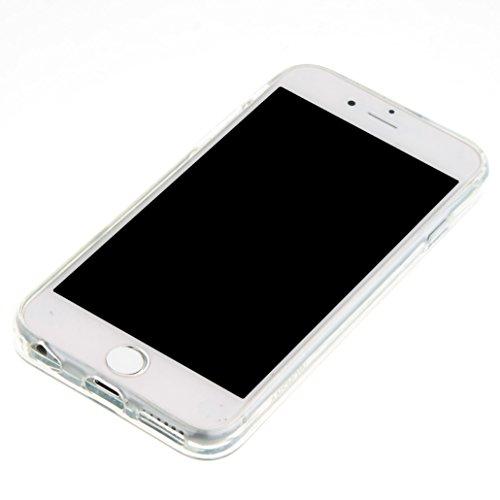 Für Apple iPhone 6 (4,7 Zoll) Hülle ZeWoo® TPU Schutzhülle Silikon Tasche Case Cover - GS133 / Lila Bär