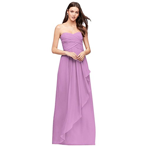 Crinkle Chiffon Bridesmaid Dress with Cascade Skirt Style W10840, Bouquet, 24