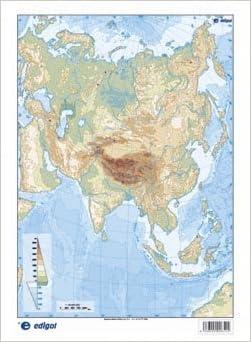 Mapa De Asia Fisico.Mapa Asia Fisico S A Edigol Ediciones 9788492525102