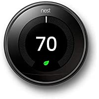 Nest Learning Thermostat 3rd Generation, Mirror Black - T3018US