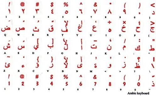 adesivitastiera. it – Pegatinas Letras Teclado Árabe fondo ...