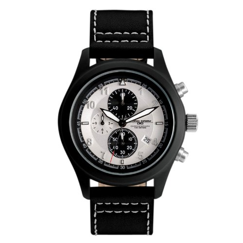 Jorg Gray JG4530 Men's Black IP White Dial Chronograph Watch