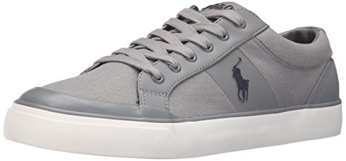 Polo Ralph Lauren Heren Ian Canvas Fashion Sneaker Basic Grijs
