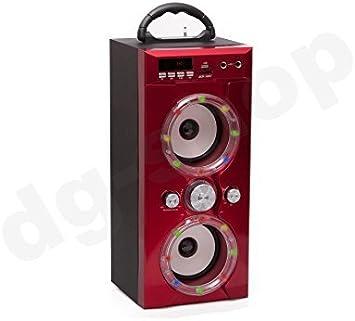 SD-Q96 estéreo portátil roja La caja de sonidos del altavoz de Bluetooth cajas de sonido
