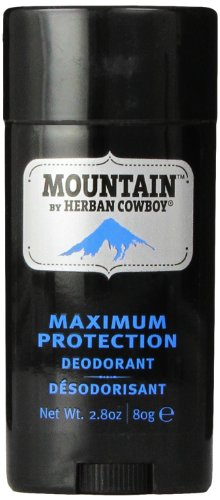 Herban Cowboy Mountain Natural Deodorant, Maximum Protection, 2.8 Ounce