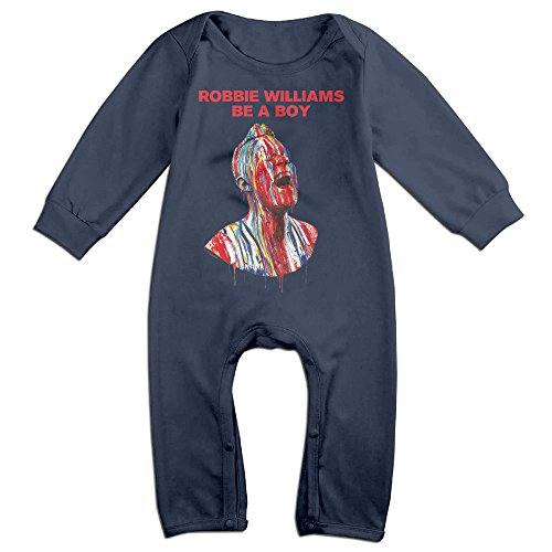 KIDDOS Baby Infant Romper English Singer Actor Long Sleeve Jumpsuit Costume,Navy 18 Months