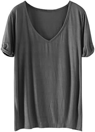 SheIn Women's Summer Short Sleeve Loose Casual Tee T-shirt