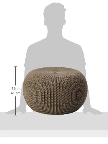 Keter 40piece Cozy Urban Knit Furniture Set Compact IndoorOutdoor Delectable Keter Outdoor Pouf