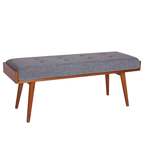 Porthos Home Aysel Accent Bench, Blue