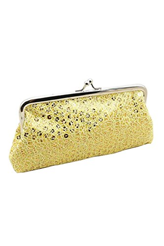 TOOGOO (R) Damen Pailletten Clutch Abend Party Handy Beutel Geldbeutel Geldboerse (gold)