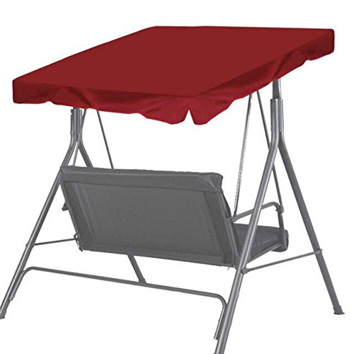 BenefitUSA Patio Outdoor 65''x45'' Swing Canopy Replacement Porch Top Cover Seat Furniture (Burgundy) by BenefitUSA