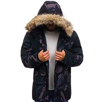 Sumen Men Clothing Winter Thicken Cotton Jacket with Fur