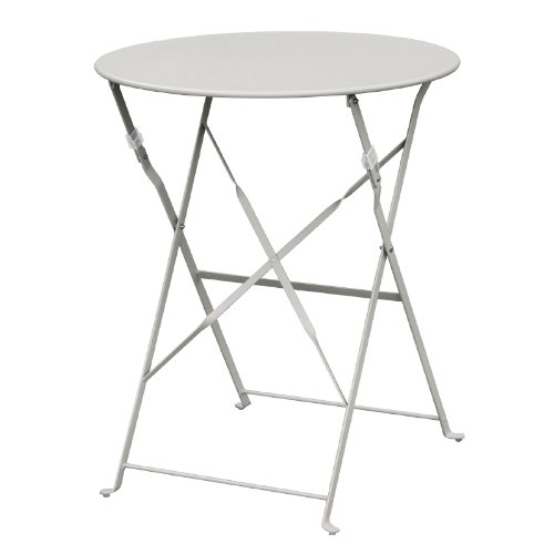 Bolero Grey Pavement Style Steel Table 710X595mm Garden Restaurant Commercial Nisbets 14243