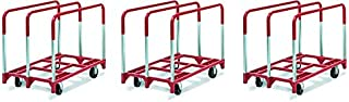 product image for Raymond Products 3825 Panel Mover with 2 Fixed and 2 Swivel 5 in. Phenolic Casters 3 Standard Uprights (3)