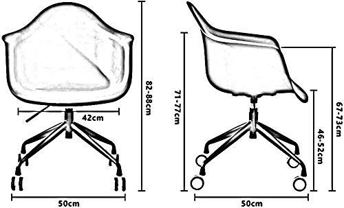 DBL annorlunda extraordinär upplevelse modernt utseende konferensstol bord bekvämt säte ryggstöd höjd Pp + stål skrivbordsstolar (färg: vit)