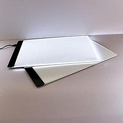 LED Light Box Tracer, A4 Thin Portable Light-up Stencil Board Tracing Light Table Copy Pad for Drawing, Tracing, Sketching, Animation, USB Power