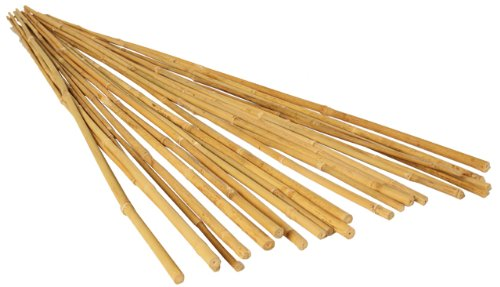 GROW!T HGBB6 - 6 Foot Long Bamboo Stakes, Natural Finish, (Pack of 25) - Strong, Durable, and Lightweight, Perfect for indoor or outdoor usage