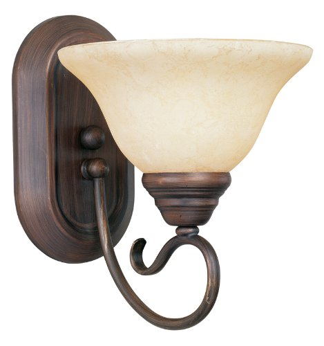 Livex Lighting 6101-58 Coronado 1 Light Imperial Bronze Wall Sconce with Vintage Scavo Glass