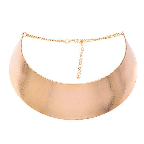 Spinningdaisy Cleopatra Metal Choker Necklace