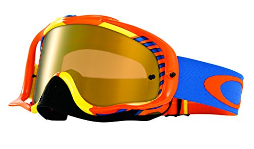 Oakley Crowbar MX Bio Hazard Goggles with Orange/Blue for sale  Delivered anywhere in Canada