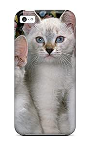 New Fashionable AltaJustu Kqd-806PHNqvTGU Cover Case Specially Made For Iphone 5c(the White Cat Trio)