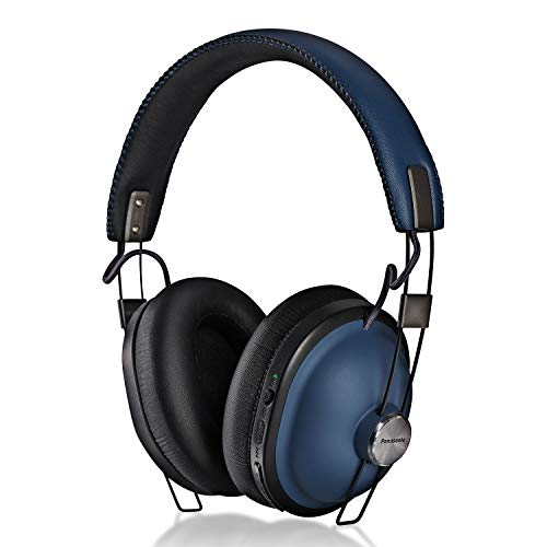 PANASONIC Bluetooth Wireless Headphones with Noise Cancelling, Voice Assist, Bass Enhancer and 24-Hour Playback. Retro Modern Style - RP-HTX90N-A - Over The Ear Headphones (Indigo Navy)