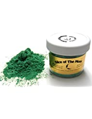 Apple Green Mica Powder 1oz, Green Metallic Powder, Cosmetic Mica, Slice of the Moon