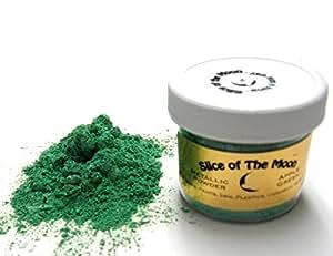 Apple Green Mica Powder 1oz, Green Metallic Powder, Cosmetic Mica, Slice of the Moon