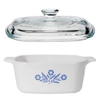 CorningWare - Cazuela azul y cacerola de 1,5 L Bundle - 1,5 l casserols con tapa de cristal: Amazon.es: Hogar