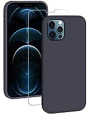 EasyAcc Etui silikonowe etui kompatybilne z iPhone 12 Pro 2020, miękkie etui na telefon komórkowy, granatowe
