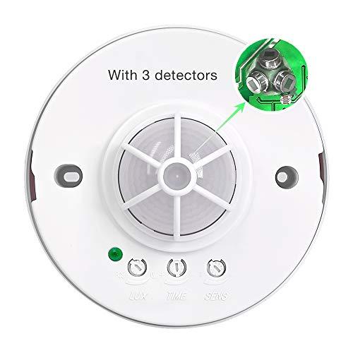 Sensky SK037 3-12M 360 Degree Ceiling Occupancy Sensor Motion Sensor Light Switch High Sensitive PIR Motion Sensor Switch (110V-240VAC)