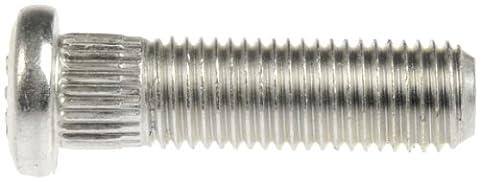 Dorman 610-360 M12-1.50 Serrated Wheel Stud - 13.41mm Knurl, 51.5mm Length (Box of 10) - Stud Bolt Length