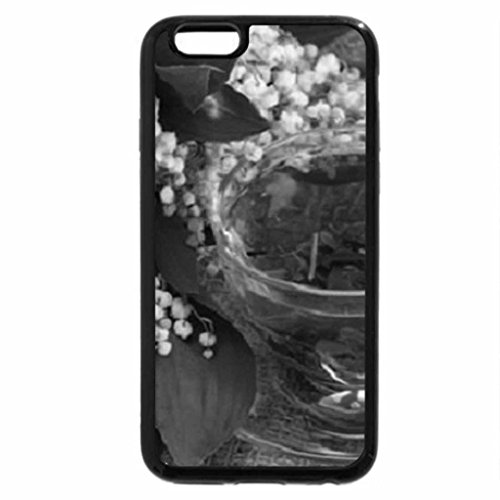iPhone 6S Plus Case, iPhone 6 Plus Case (Black & White) - lily of the valley and cup of tea
