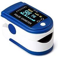 Pulsoximeter voor de vinger, draagbaar, professioneel, 4 richtingen verstelbaar, led-display, SPO2-meting, voor thuis…