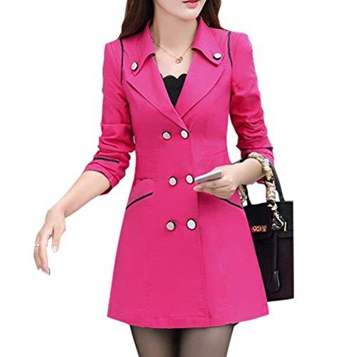 Transition Slim Femme Fit El Manteau Longue Manteau De Revers Printemps Mode Manches Automne Costume Long anPpqwx0