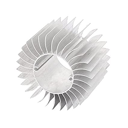 DealMux Led Light Lâmpada de alumínio do dissipador de calor do radiador Cooling Fin 57mmx29mmx37mm