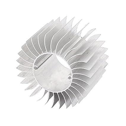 DealMux Led Light Lâmpada de alumínio do dissipador de calor do radiador Cooling Fin 57mmx29mmx37mm