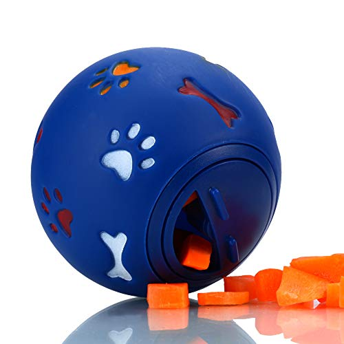 Snack Ball for Small Animals,Treat Ball for Guinea Pigs and Other Small Pets, Adjustable Opening Snack Ball (Blue)