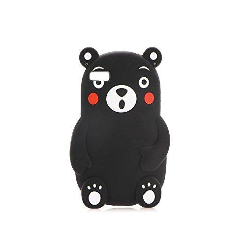 "BACK CASE 3D Teddybär Bär D schwarz für Apple iPhone 6 4,7"" Apple iPhone 6S Handytasche Hülle Cover Case Schutzhülle Tasche"