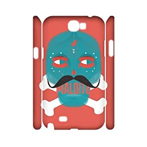 QSWHXN Skull Art 6 Phone 3D Case For Samsung Galaxy Note 2 N7100 [Pattern-4]
