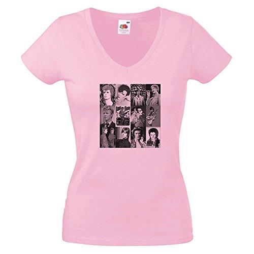 Vintage Magazine Company - Camiseta - para mujer Rosa